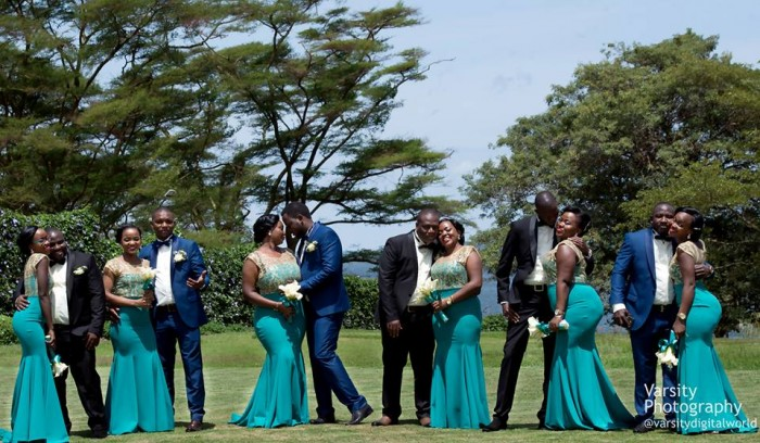 Groomsmen and bridesmaids during a wedding photo shot by Varsity Digital WORLD