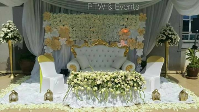 Persis and Anthony's wedding high table decorations by Purple Truffle Weddings and Events