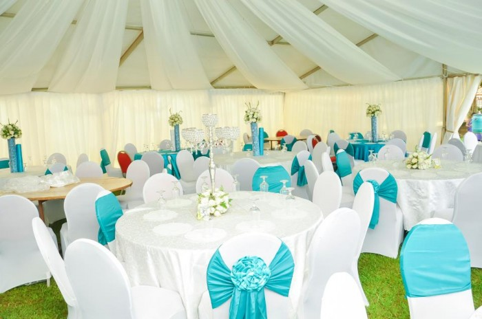 Round table & tent event decorations by Blessed HANDS DECOR Services