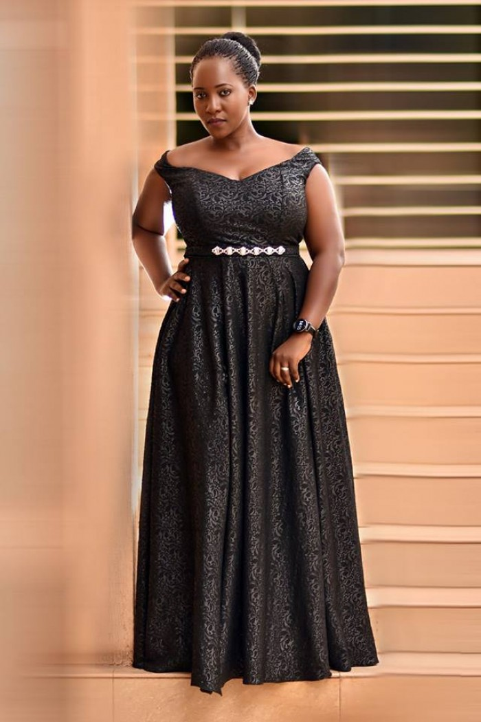 A nice black dress designed by Peponi Clothings