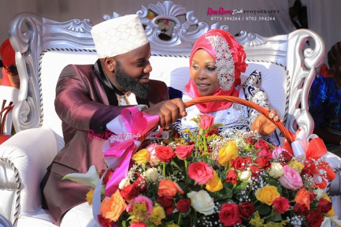 A Bride & Groom at customary wedding powered by Rossy Roots Events