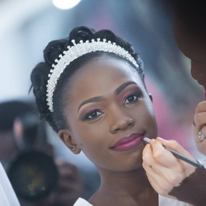 Black beauty Sophie rocked bridal makeup by Serene Beauty