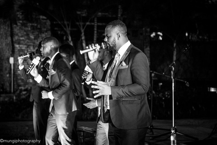 Canaan Gents performing at an event in Kampala