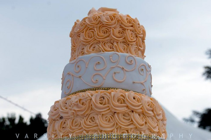A beautiful wedding cake, Shots powered by Varsity Digital World
