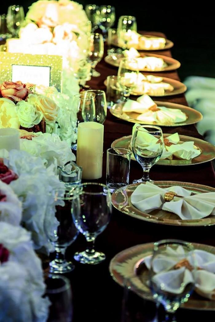 White Belle Chair + Burgundy + Gold