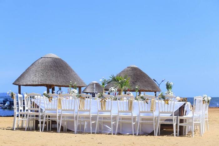 White Chiavari Chairs at One Love Beach Busabala