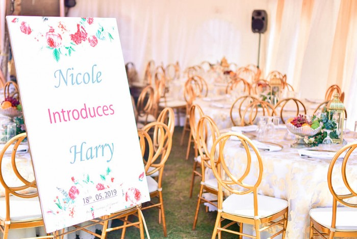 Nicole introduces Harry, Decor by Eventique