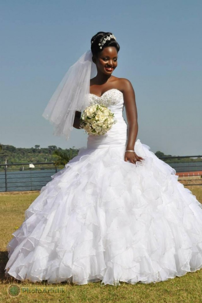 A stunning bride at a wedding photo shoot at the Commonwealth Resort Munyonyo