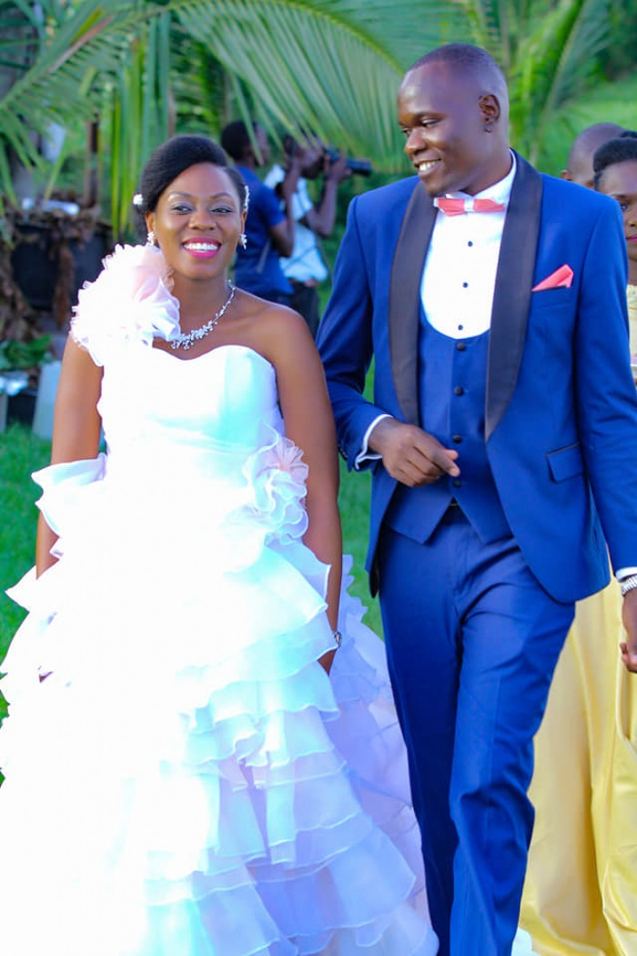 Sandra and Joseph on the wedding day at One Love Beach Busabala