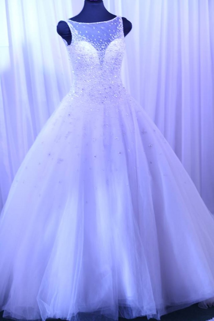 A beautiful wedding dress at Elegant Bridals