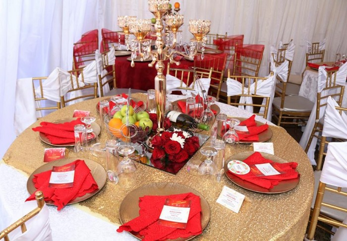 Cathy's Red,gold & white touch introduction
