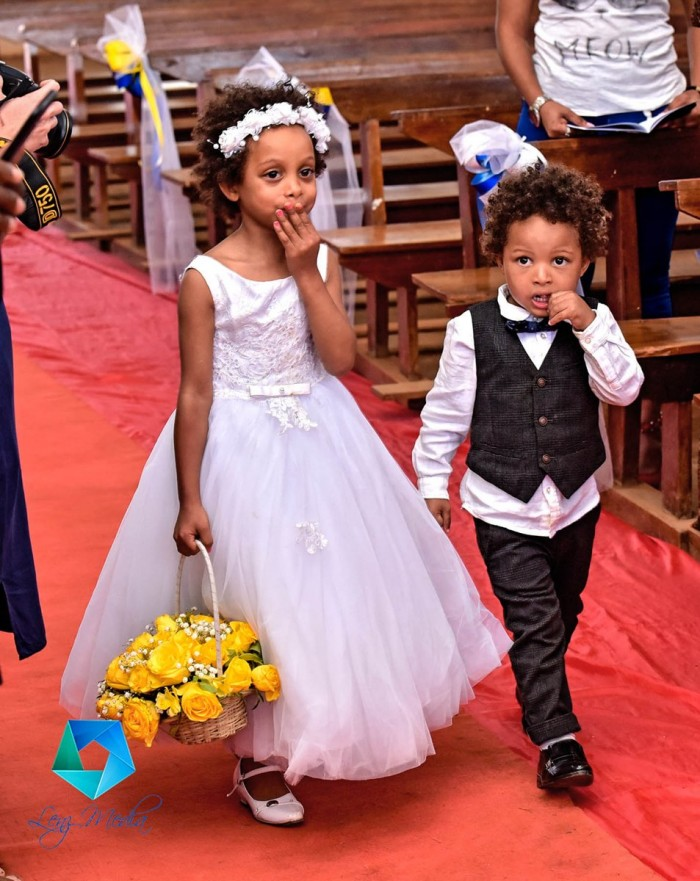 Kevin and Briget's pageboy and flower girl, Lenz Media