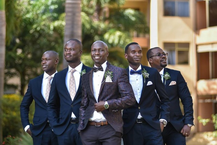 Marcus and his groomsmen