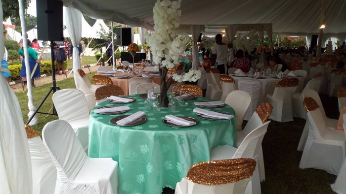 Wedding centerpiece Decoration by Crystal Events