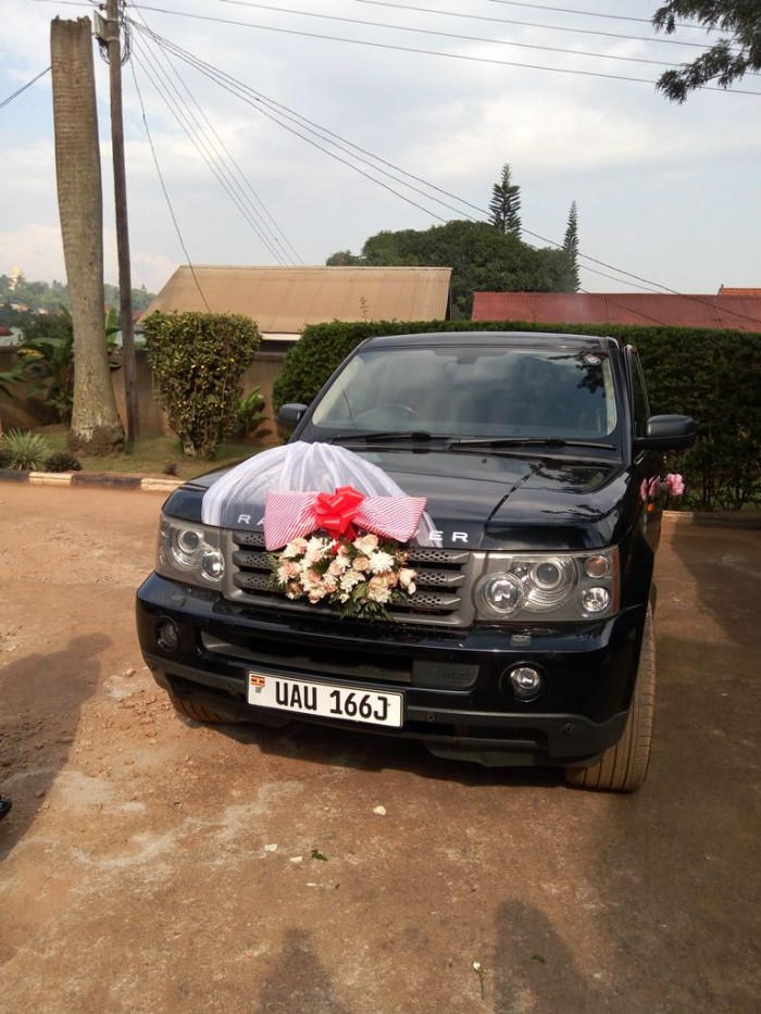 A range rover sport for a bridal car from Mr Events