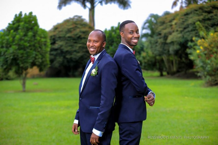 Jonathan and his best man during a wedding photo shoot powered by  Rossy Roots Events