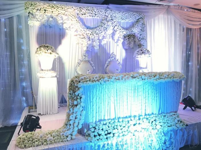 Flower intense wedding decorations at Kalangala hall, Serena Kiggo by Spice Decorators