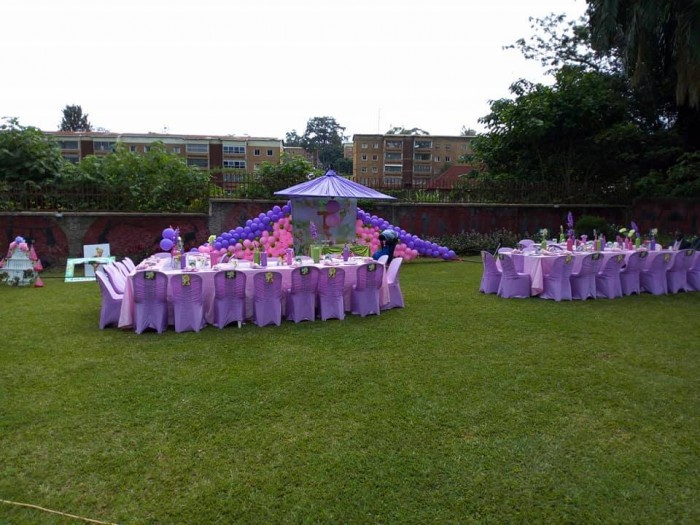 Kids party decorations at Silver Springs Hotel