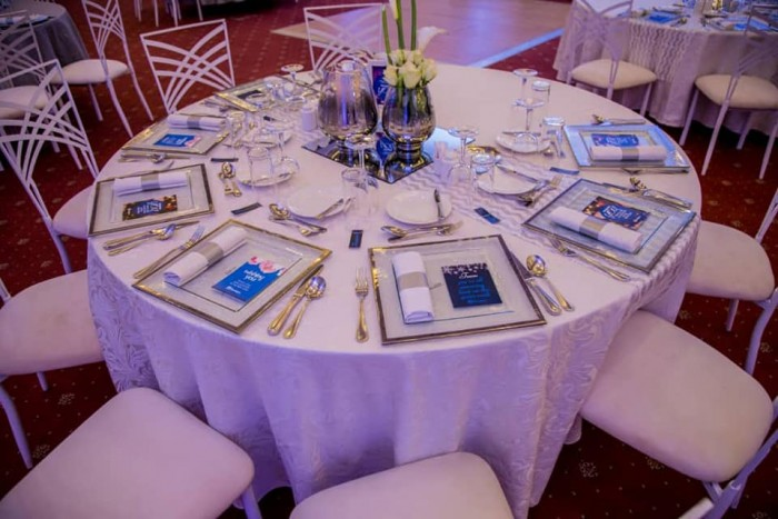 Beautiful dinner decor by Viable Options