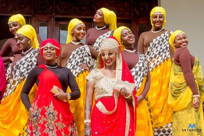 Beautiful ladies clad in nice bridal wear