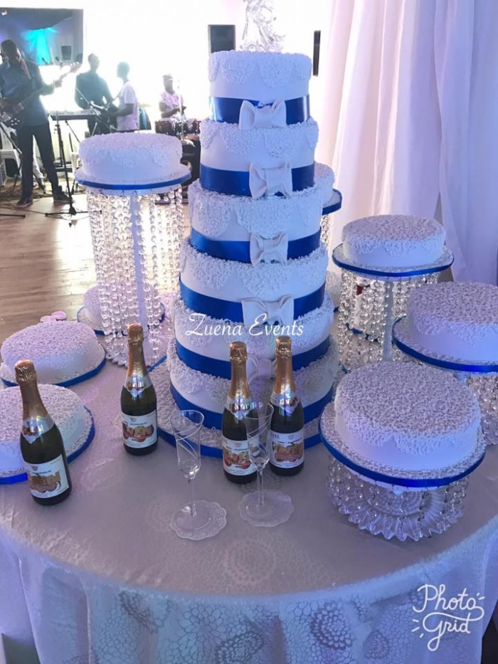 Obed and Barbie's wedding Cake by Zuena Events & Cake