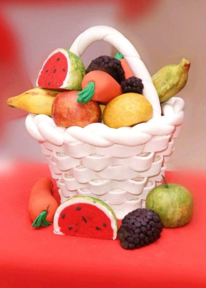 Fruit basket inspired cake from Elieonai Cakes