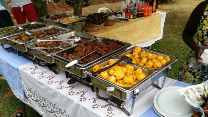 A variety of foods from Mapenzi Events