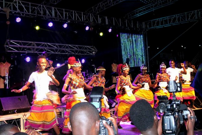 The Dance N' Beats Cultural Troupe excited the crowd with traditional dances at music concert
