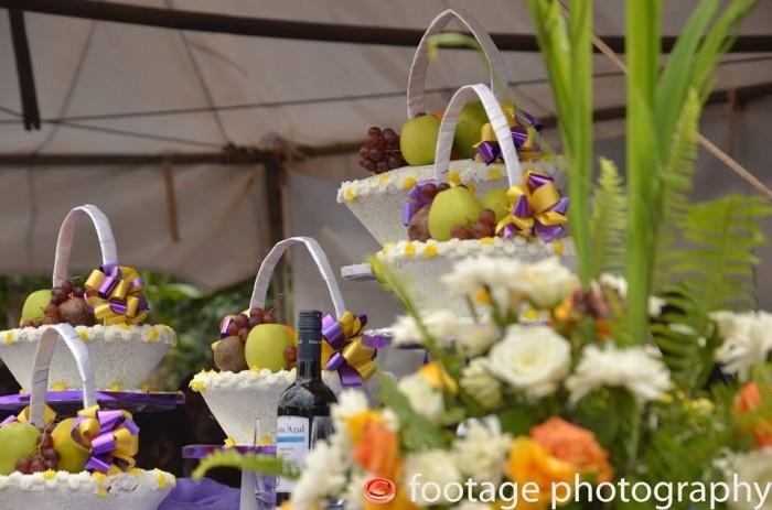 Uniquely designed customary wedding cake from Elieonai Cakes