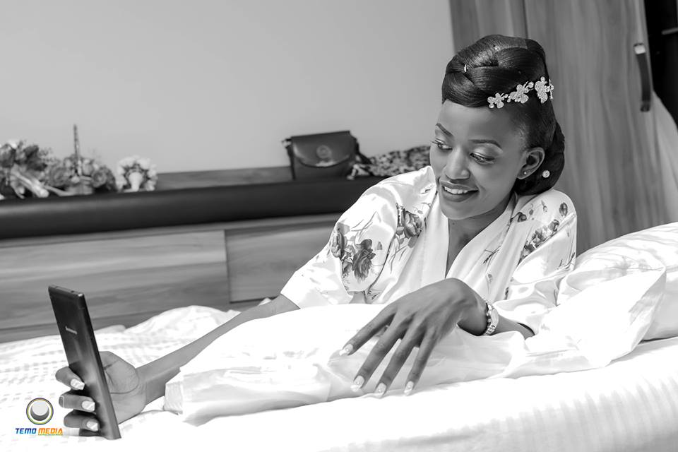 Esther on her wedding day with Richard, Temo Media