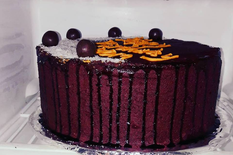 A chocolate cake by Kanyonyi Cakes