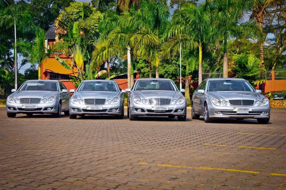 Benz Wedding Motorcade