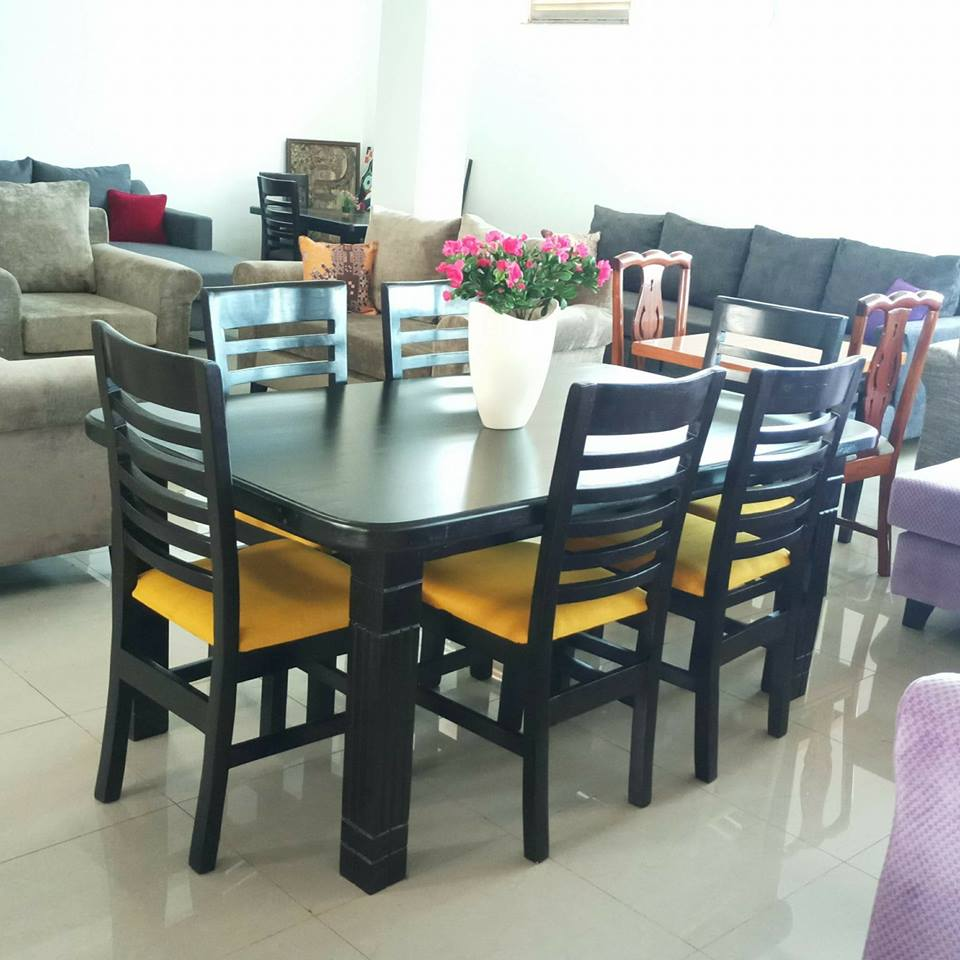 Nice black dining table made by The Furniture Workshop