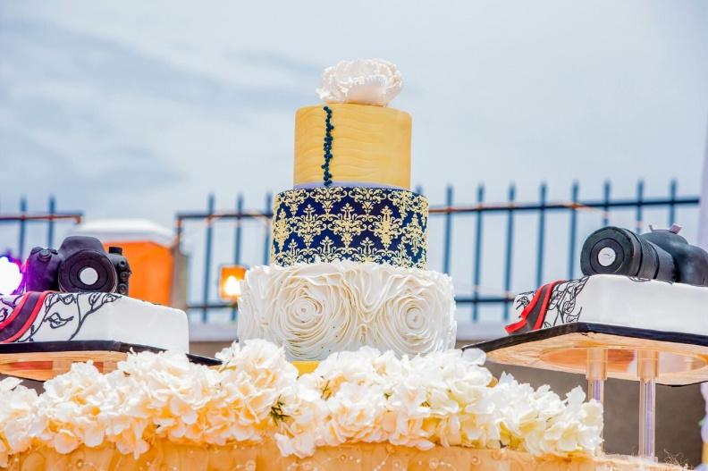 Muhammad Katende & Zamara Twaha's customary wedding cake