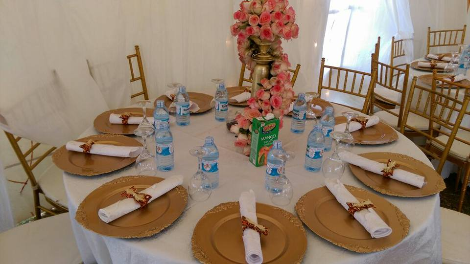 Round table decor setup by Mugagga Events