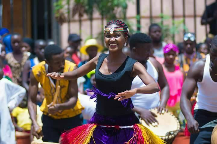 Nyange Cultural Performers at the Kampala Capital City Festival 2017