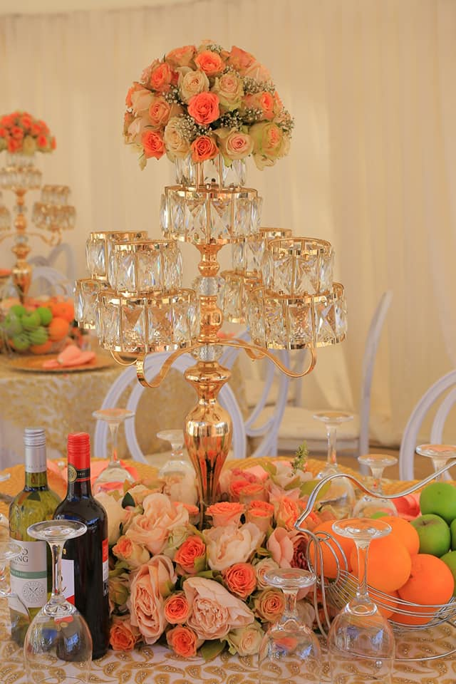 Joseph and Sheebah's customary wedding decor by SUKI Events