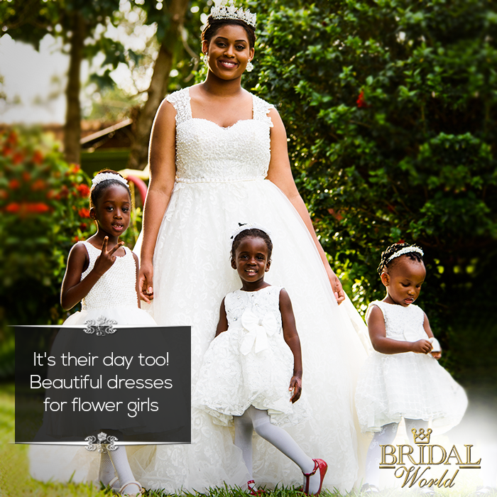 It's their day too! Flower girls will never forget that special dress at that special moment.