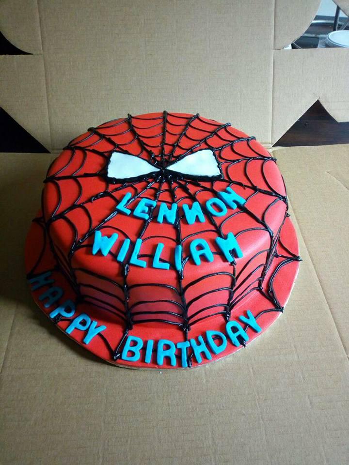 Lennoh's spiderman inspired birthday cake from Danse Pastries Uganda