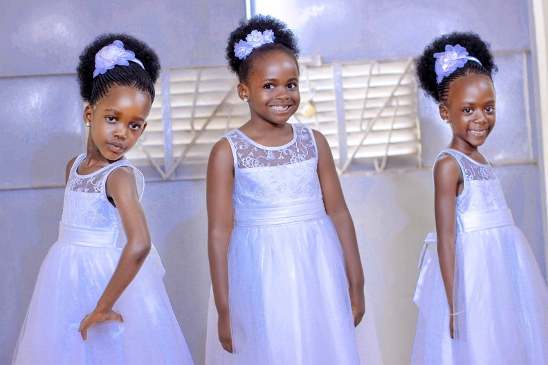 Beautiful Ugandan flower girls, shots powered by Agapix Photography