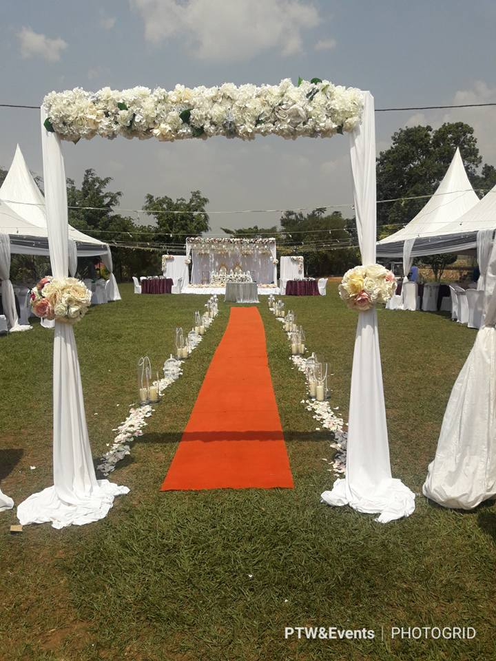 Walk way wedding decorations by PTW & Events