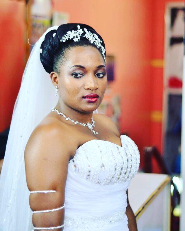 A bride worked on by TEM Fashion WEAR
