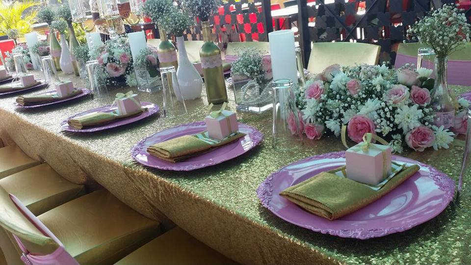 Bridal shower decorations by Purple Truffle Weddings and Events