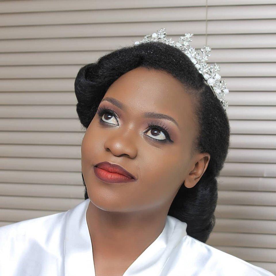 Beautiful Tina on wedding day, Makeup & hairdo by Serene Beauty