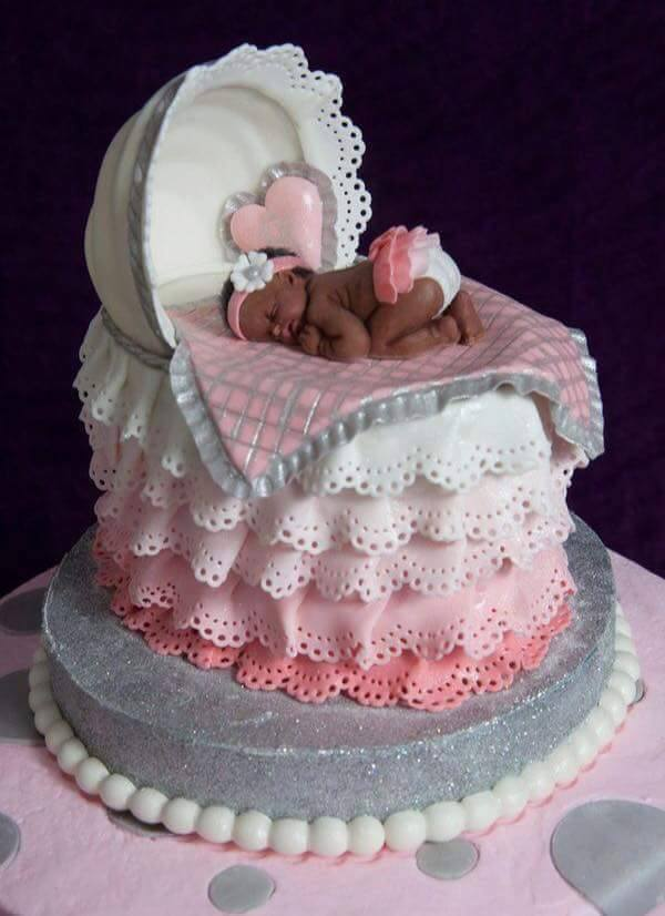 A baby shower cake made by Elieonai Cakes