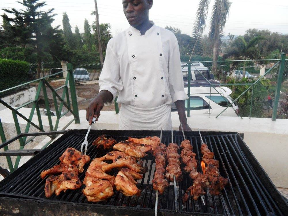 Roasted chicken and meat with Sunrise Catering Services Limited