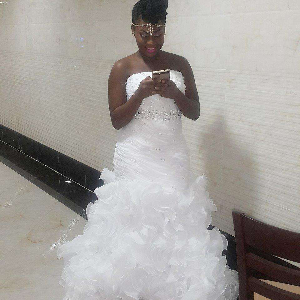 Marmaid gowns with ruffles at Destiny bridals boutique