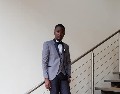A black and grey tuxedo from City Grooms