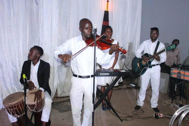 The Tabs Uganda team during a live performance in Kampala