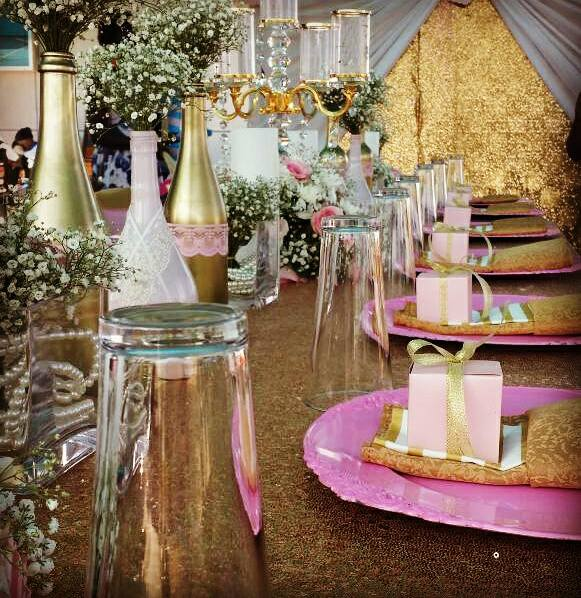 Beautiful Bridal shower decorations by PTW & Events